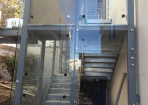 Australia Outdoor Steel Stair with Glass Curtain