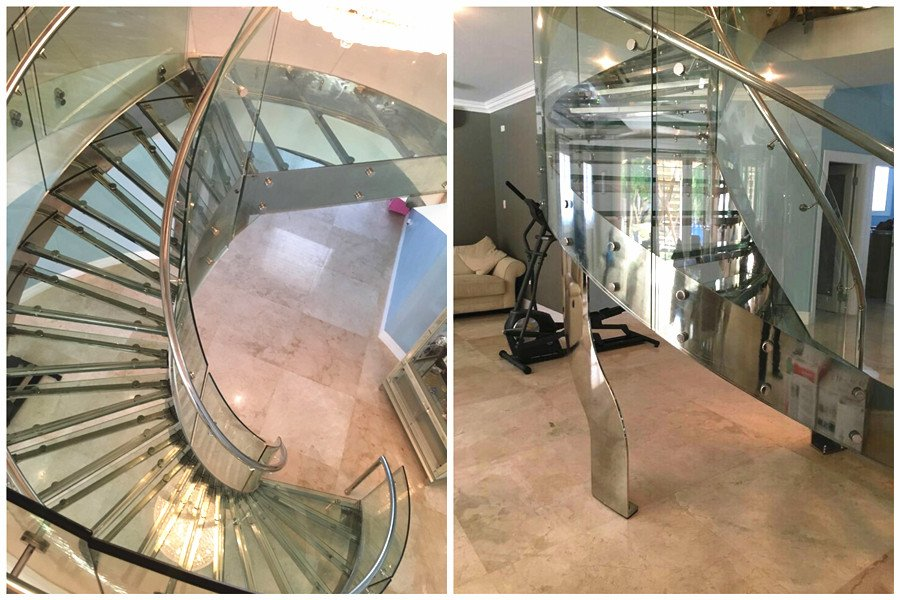 Glass Curved Staircase