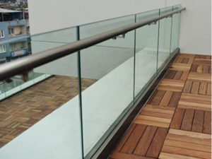 aluminum base shoe glass railing system for stair and deck and balcony by china railing supplier demax arch 3