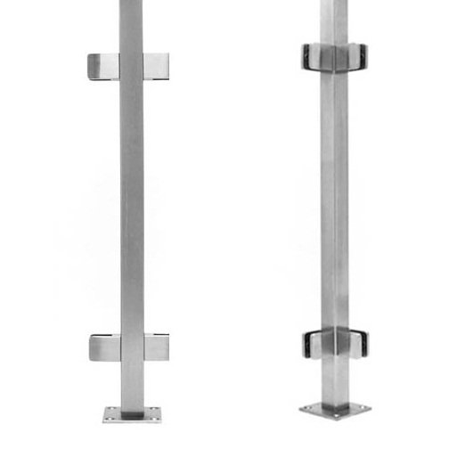 Stainless Steel Glass Railing Post Square Demax Arch