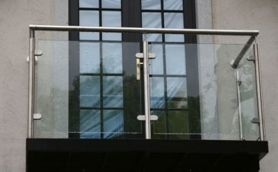 exterior balcony glass railing design with stainless steel post by china railing supplier demax arch