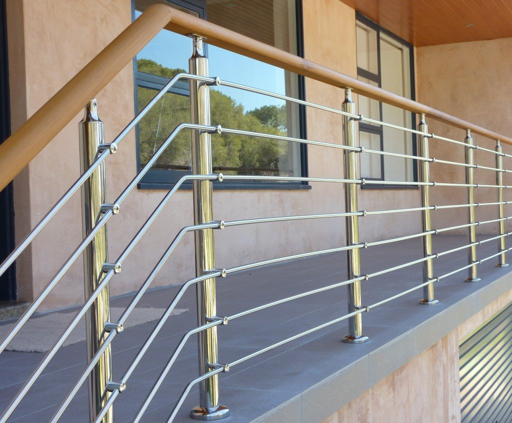 horizontal bar stainless steel railing for outdoor balcony railing design