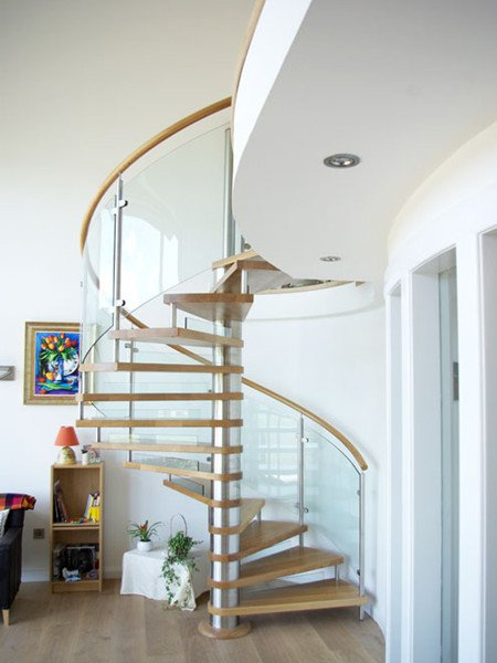 Glass Railing Spiral Staircase Demax Arch