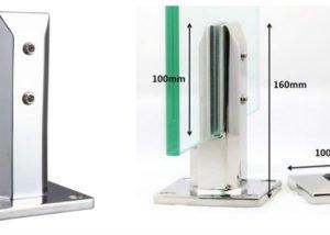 Duplex 2205 Stainless Steel Glass Spigot Square