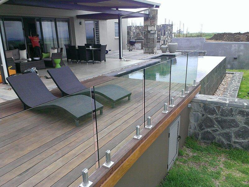 Frameless Glass Railing Designs For Deck
