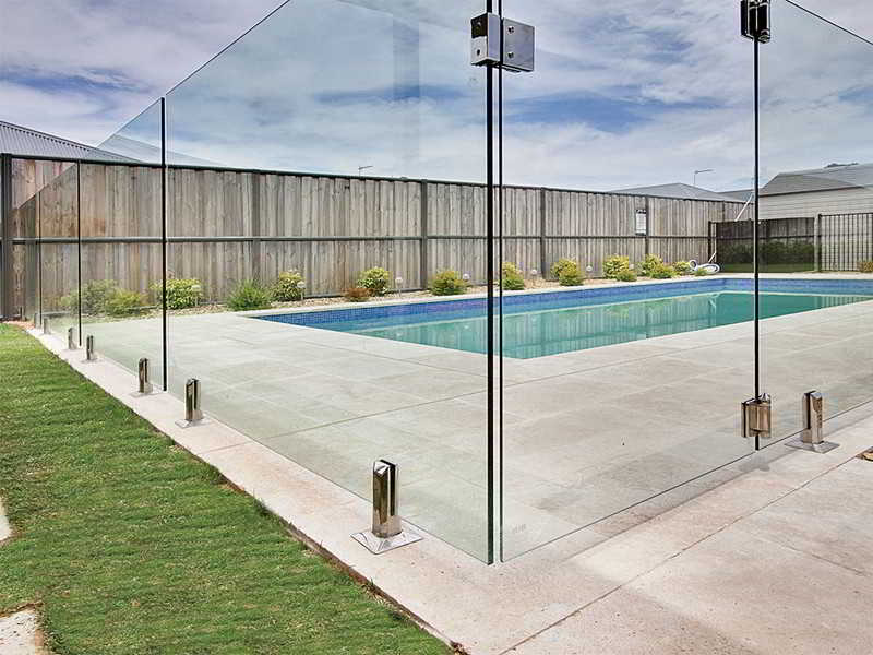 glass pool fence with glass gate and square glass spigot by china supplier demax arch