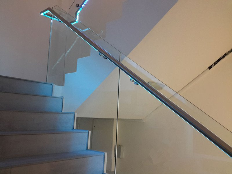 Led Glass Railing For Stairs Demax Arch