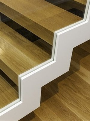 zig zag stair stringer white powder coating