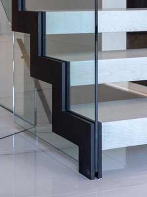 zig zag stair stringer black powder coating