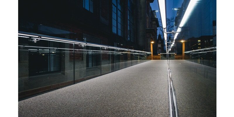Commercial Glass Railing Balustrade With LED Lighting illuminated railing for deck