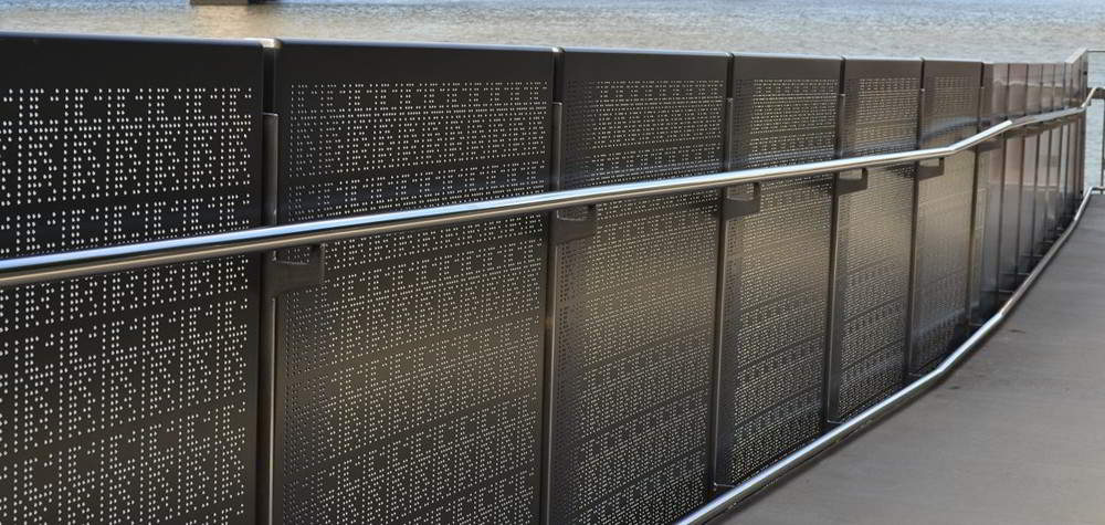 perforated sheet railing by china railing supplier demax