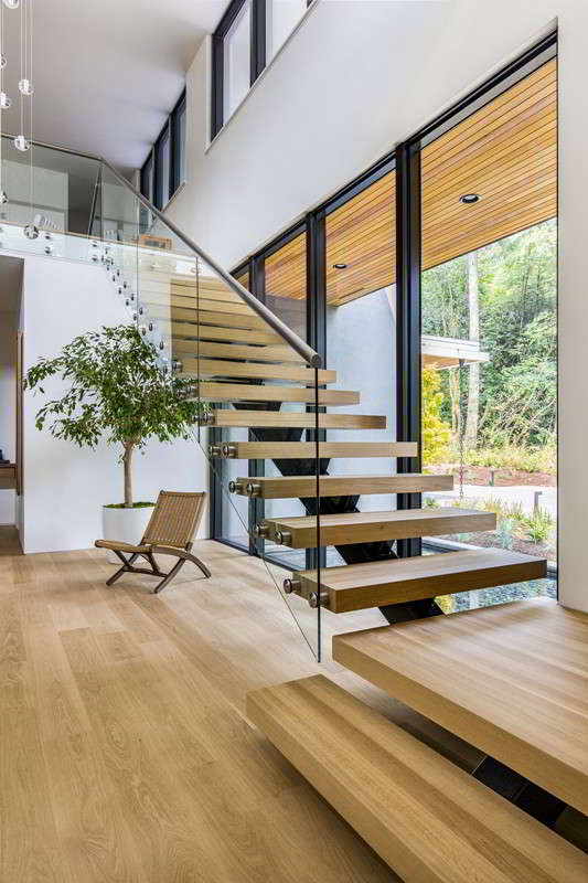 modern mono stringer staircase open riser staircase with glass railing by china stair manufacturer demax arch