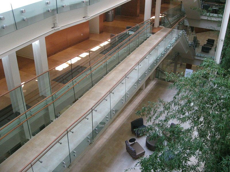 architectural standoff glass railing system commercial glass railing design