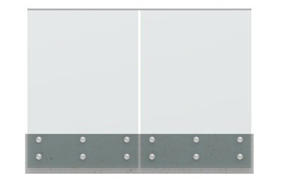 balcony standoff glass railing modular with stainless u channel cap handrail 2