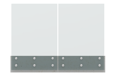 Glass Balustrade Guard Rail Glass Standoff Railing Modular