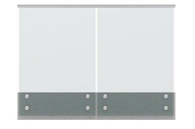 Glass Balustrade Guard Rail Glass Standoff Railing Modular with round 1.67