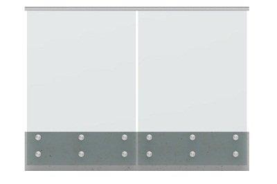 Glass Balustrade Guard Rail Glass Standoff Railing Modular with slotted cap handrail