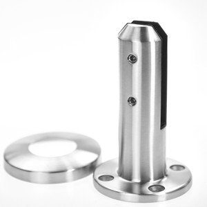 round stainless steel spigot glass clamp for glass balcony railing and swimming pool fence