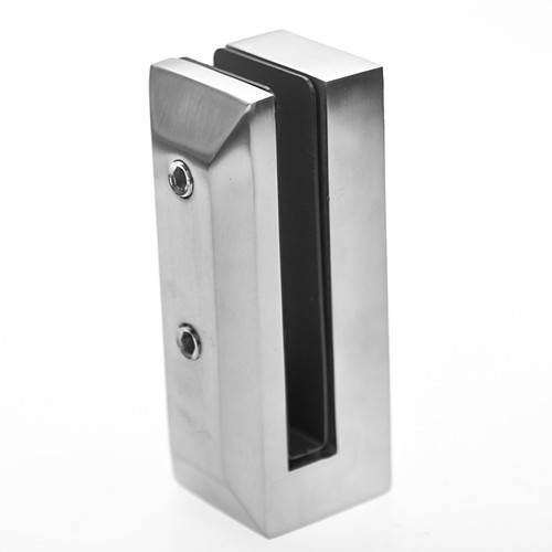 fascia mounted stainless steel glass spigot for deck glass railing