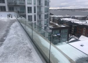 Roof Terrace Glass Railing in Halifax Canada