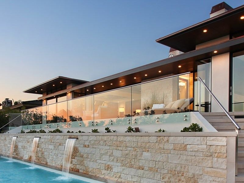 foshan demax glass standoff pin glass deck railing design ideas