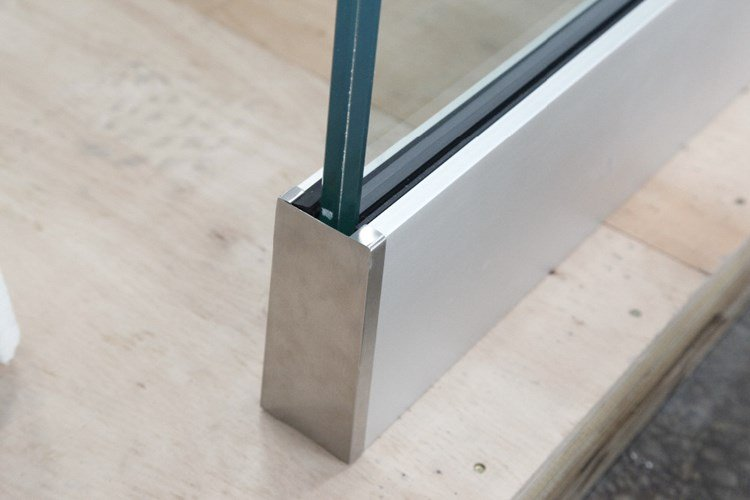 frameless glass balustrade aluminium channel kit